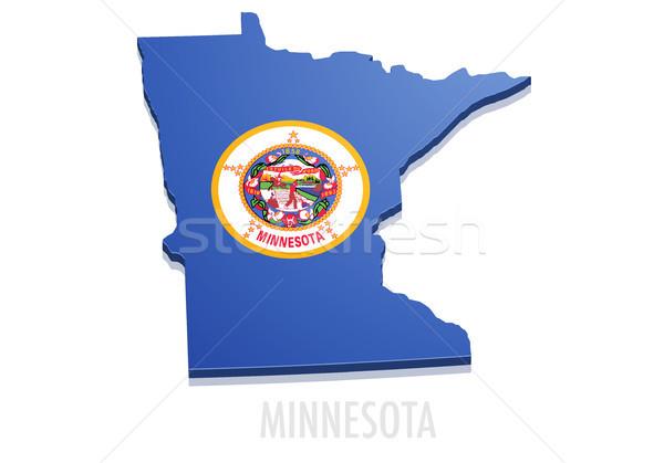 Mapa detalhado ilustração bandeira eps10 vetor Foto stock © unkreatives