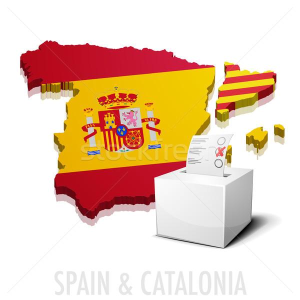 Испания подробный иллюстрация карта eps10 вектора Сток-фото © unkreatives