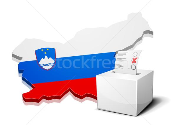 Slovenia dettagliato illustrazione mappa eps10 vettore Foto d'archivio © unkreatives