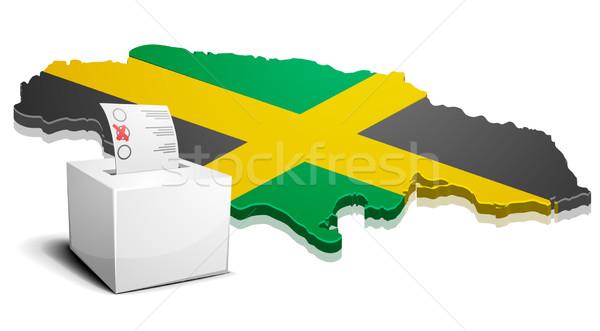Jamaika ayrıntılı örnek harita eps10 vektör Stok fotoğraf © unkreatives