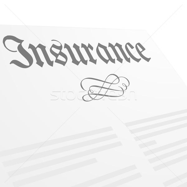 страхования письме голову подробный иллюстрация eps10 Сток-фото © unkreatives