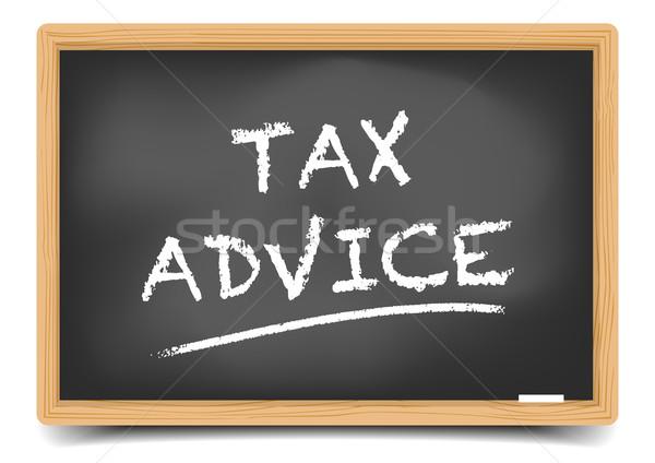 Steuer Rat detaillierte Illustration Tafel Text Stock foto © unkreatives