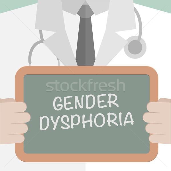 Medische boord geslacht illustratie arts Stockfoto © unkreatives
