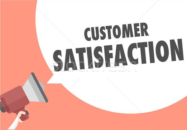 Megaphone Customer Satisfaction Stock photo © unkreatives