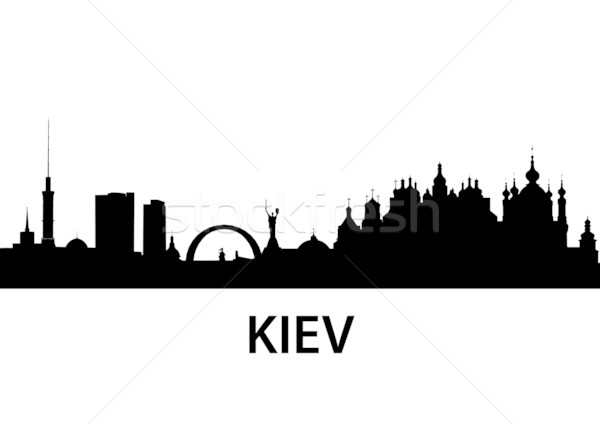 Skyline Kiev Stock photo © unkreatives