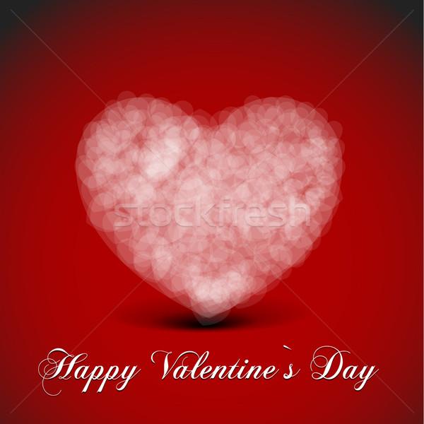 Valentinsdag Herz detaillierte Illustration Karte Stock foto © unkreatives