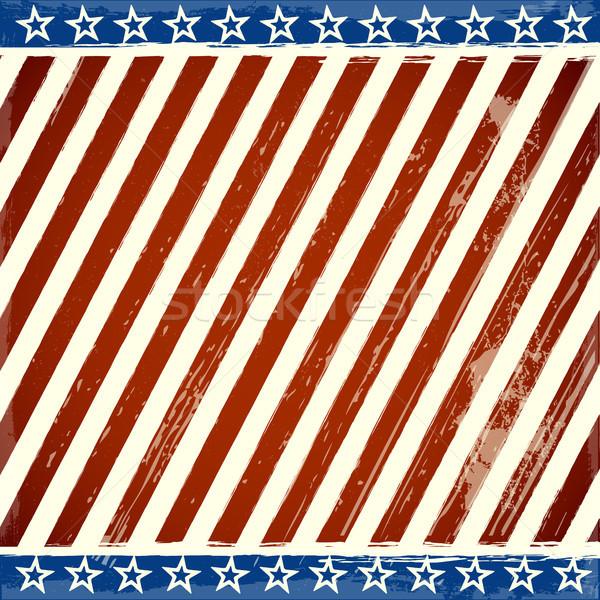 Patriotyczny gwiazdki grunge elementy szczegółowy Zdjęcia stock © unkreatives