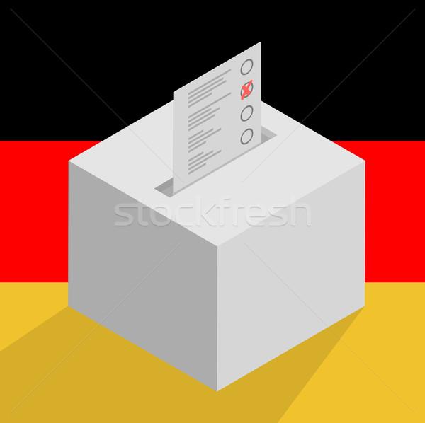ballot box on german flag Stock photo © unkreatives