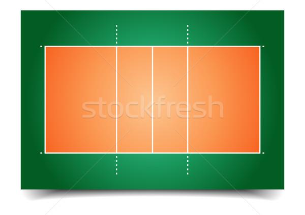 Voleibol tribunal detalhado ilustração eps10 vetor Foto stock © unkreatives