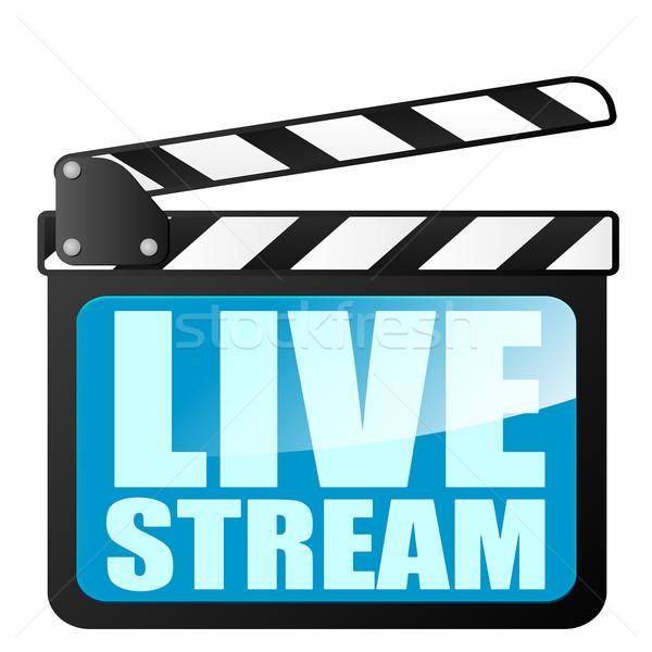 Stock photo: clapper board LiveStream