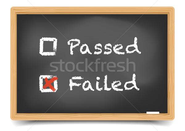 Blackboard Passed Failed Stock photo © unkreatives