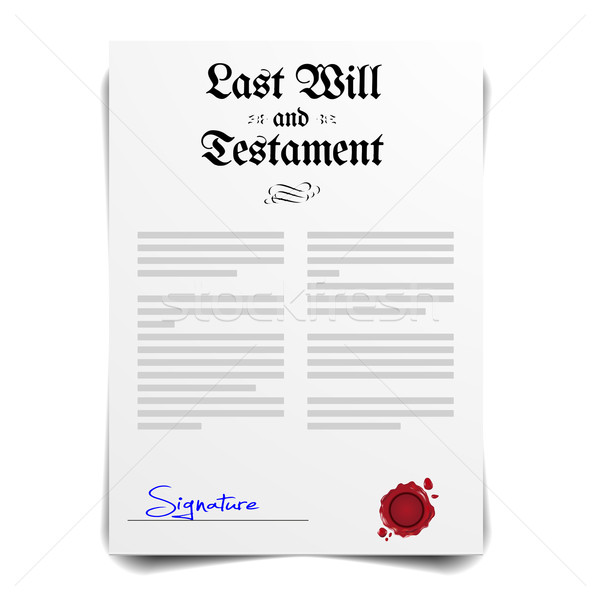 Testament letter Stock photo © unkreatives