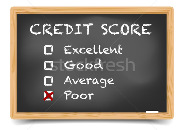 Blackboard Credit Score Stock photo © unkreatives