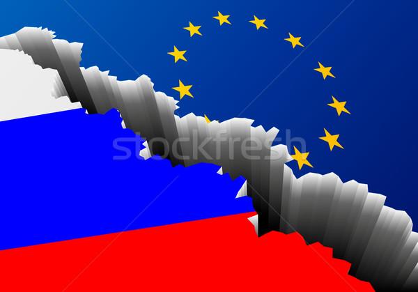 Vlag Rusland Europa diep spleet gedetailleerd Stockfoto © unkreatives