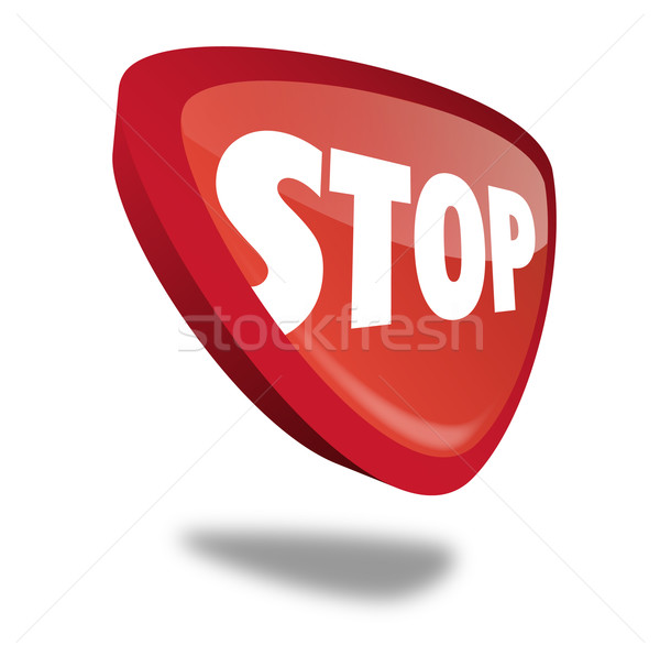 Button Stop Stock photo © unkreatives