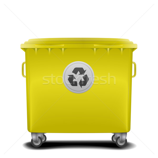 yellow recycling bin Stock photo © unkreatives