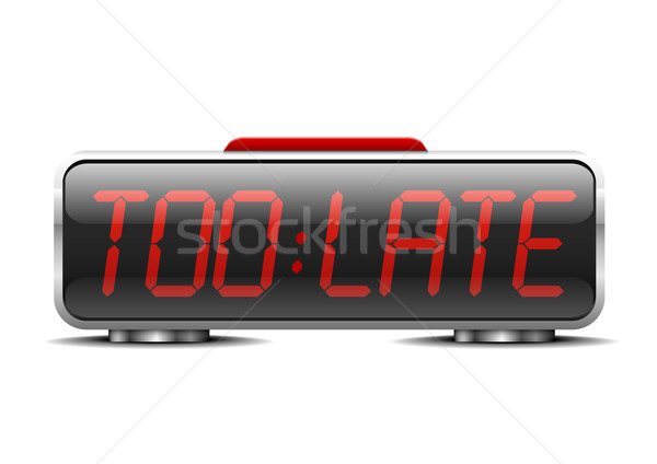 digital alarm clock too late Stock photo © unkreatives