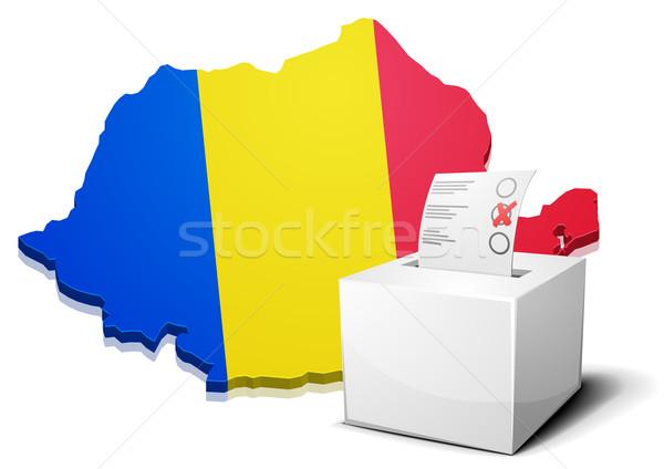 ballotbox Romania Stock photo © unkreatives