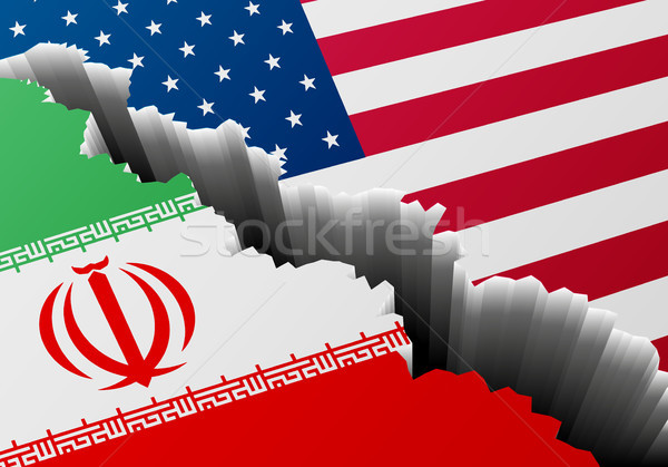Deep Crack Iran USA Stock photo © unkreatives