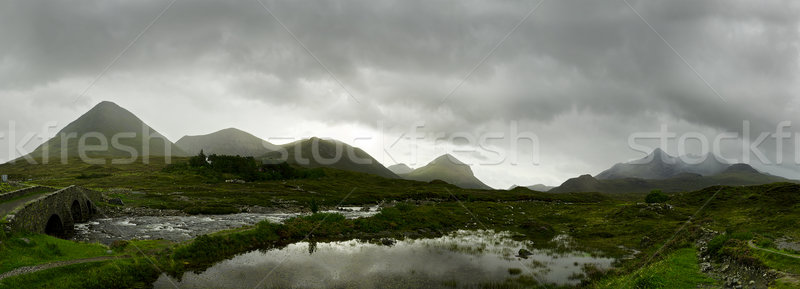 Scottish Highlands Panorama Stock photo © unkreatives