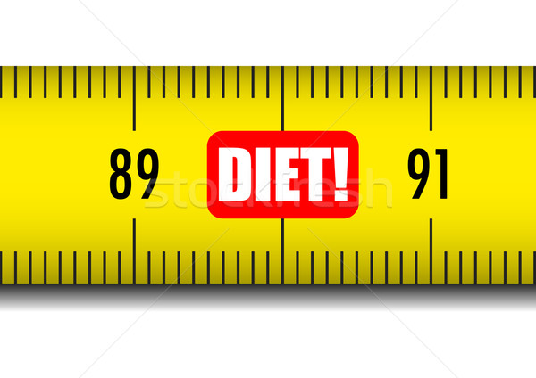 measure tape diet Stock photo © unkreatives