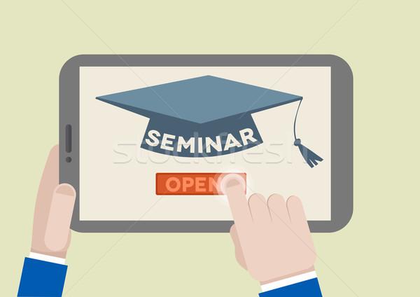 Tablet Seminar Stock photo © unkreatives
