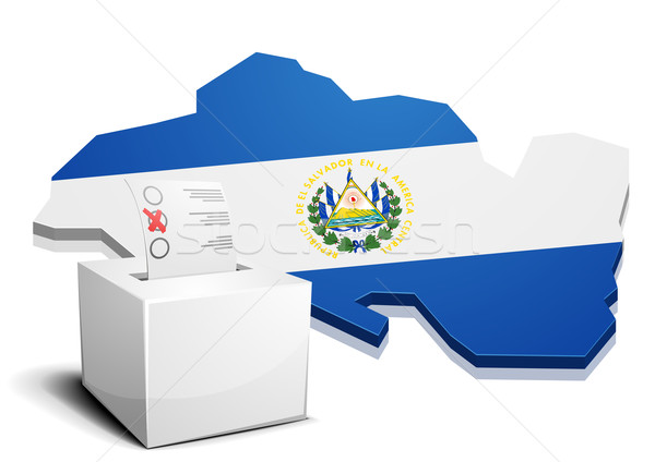 ballotbox El Salvador Stock photo © unkreatives