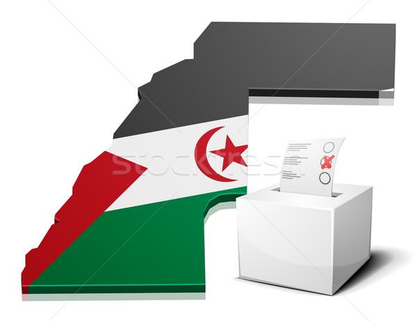 ballotbox Western Sahara Stock photo © unkreatives