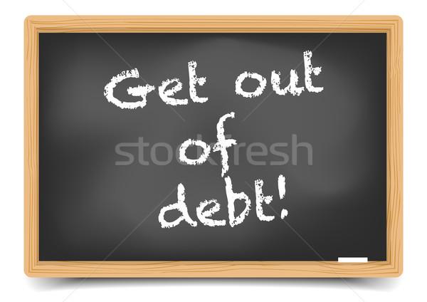 Fuera deuda detallado ilustración pizarra texto Foto stock © unkreatives