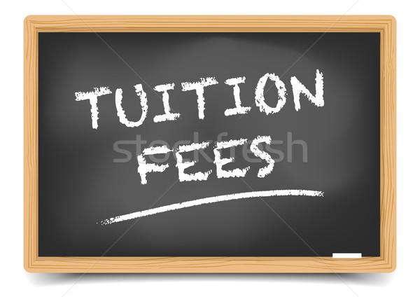 Blackboard onderwijs vergoedingen gedetailleerd illustratie tekst Stockfoto © unkreatives