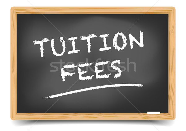Stock photo: Blackboard Tuition Fees