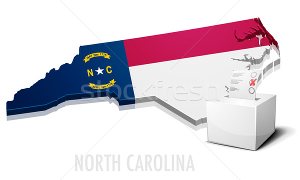 North Carolina gedetailleerd illustratie kaart eps10 vector Stockfoto © unkreatives