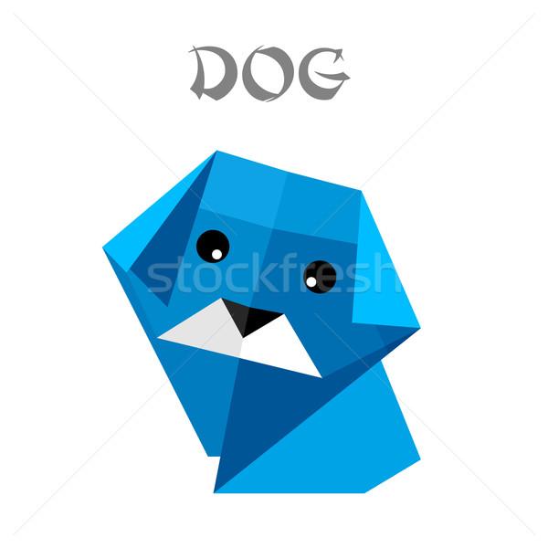 origami dog Stock photo © unkreatives