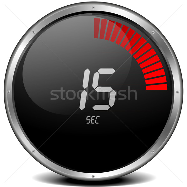 digital stop watch 15s Stock photo © unkreatives