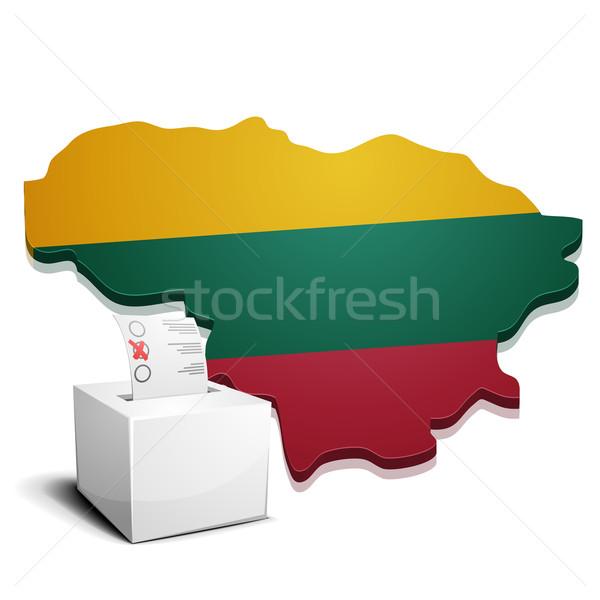 Lituânia detalhado ilustração mapa eps10 vetor Foto stock © unkreatives