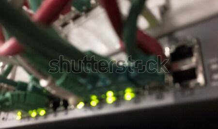 Elmosódott szerver rack folt panel különböző színes Stock fotó © unkreatives
