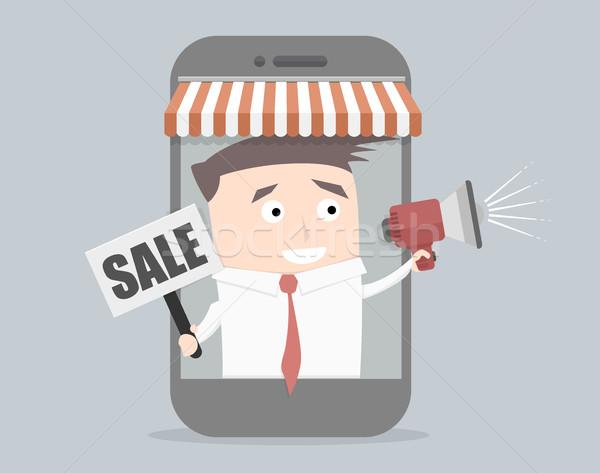 Businessman Megaphone Sale Stock photo © unkreatives