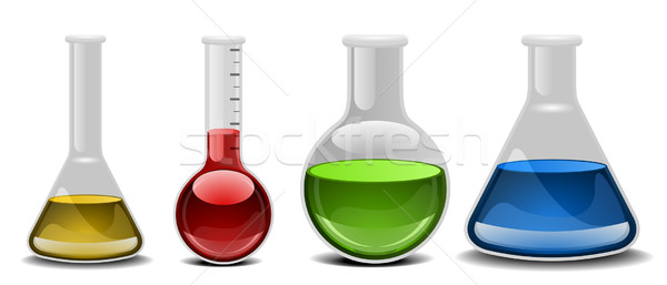 glass flasks Stock photo © unkreatives