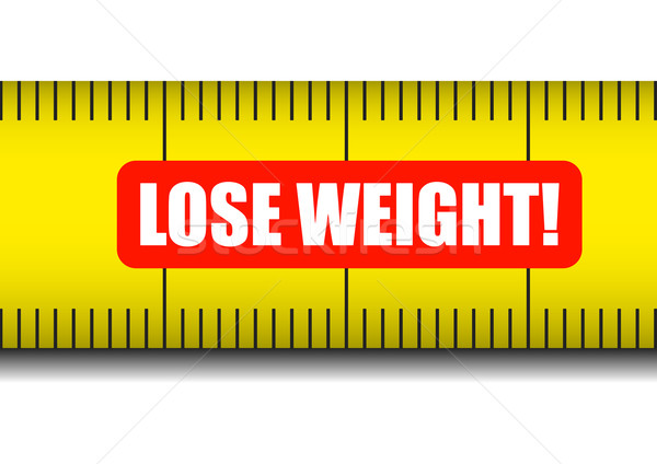 measure tape lose weight Stock photo © unkreatives