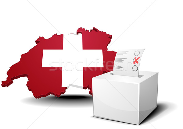 Suisse scrutin boîte détaillée illustration carte Photo stock © unkreatives