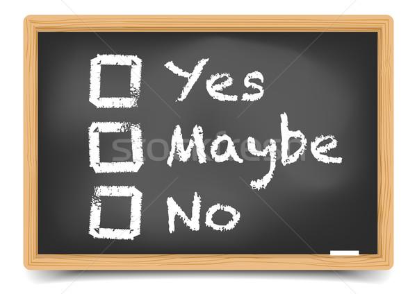 доске голосования подробный иллюстрация различный опции Сток-фото © unkreatives
