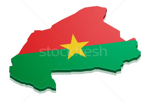 Map Burkina Faso Stock photo © unkreatives
