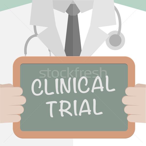 Medycznych pokładzie kliniczny ilustracja lekarza Zdjęcia stock © unkreatives