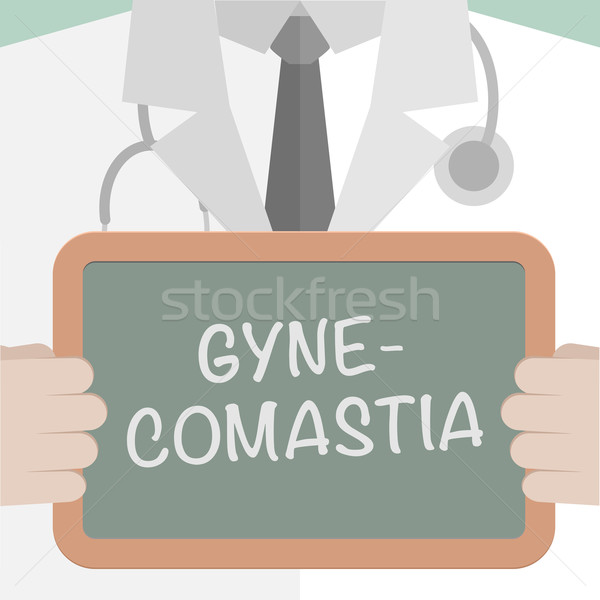 Stock photo: Medical Board Gynecomastia