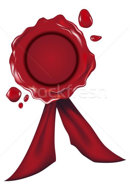 Détaillée illustration rouge cire sceau gradient Photo stock © unkreatives