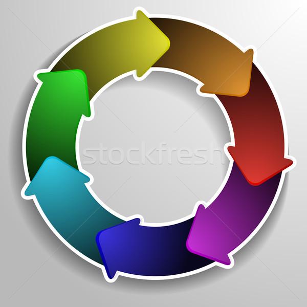 круга диаграмма подробный иллюстрация жизни цикл Сток-фото © unkreatives