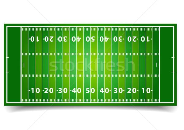 Stock photo: American Football Field