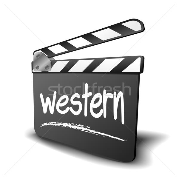 Clapper Board Western Stock photo © unkreatives