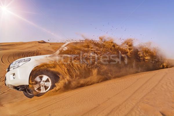 Suv duna veículo areia natureza viajar Foto stock © unkreatives