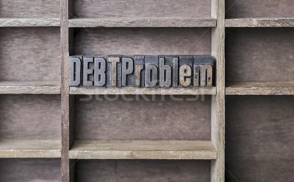 Wooden Letter Debt Problem Stock photo © unkreatives